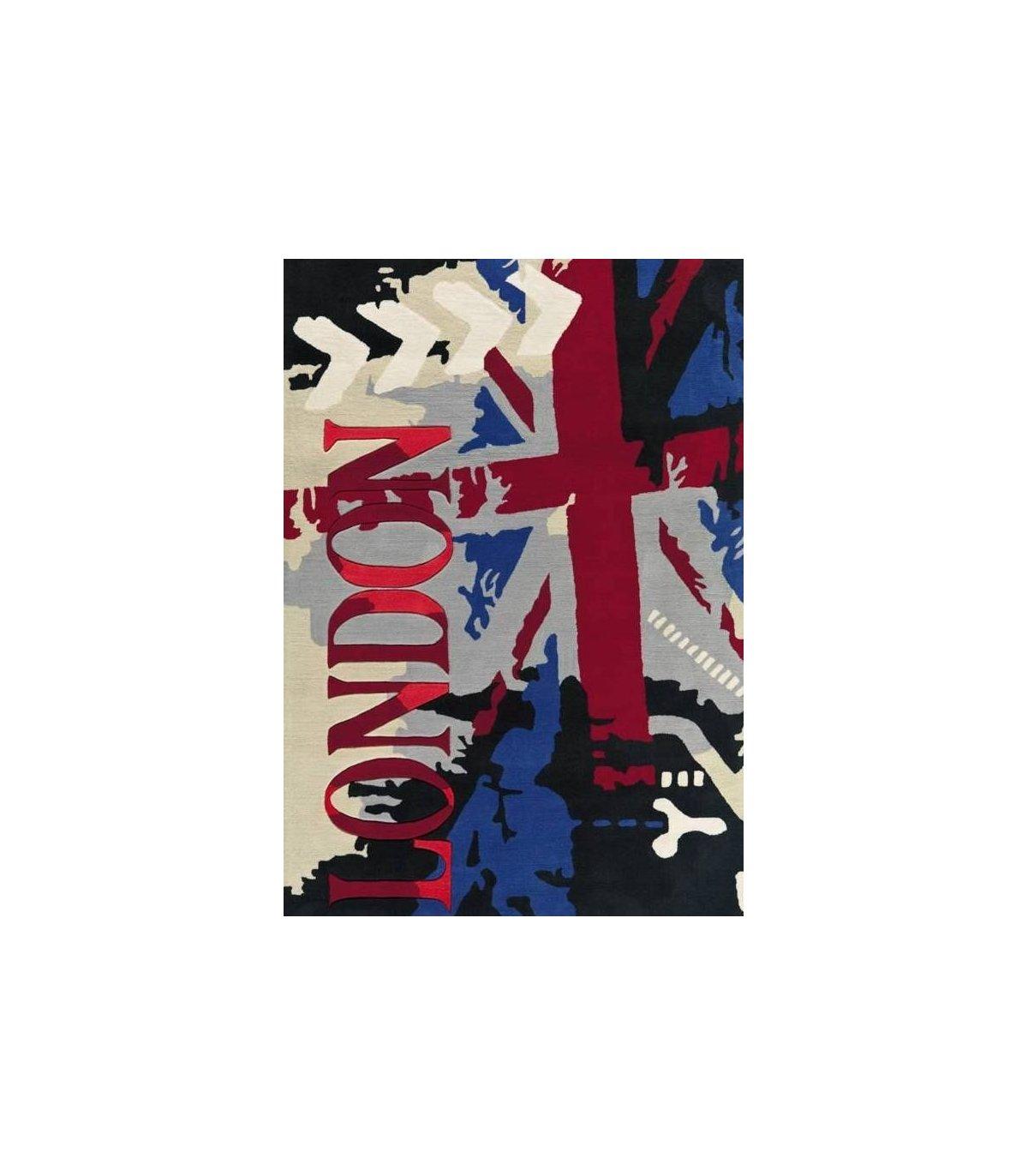 Alfombra Moderna Juvenil London Arte Espina Alfombras Modernas