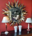 Espejo moderno sol de cristal Keops