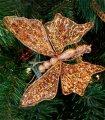 Set 6 Clips Mariposa Ámbar Decoración Navidad