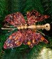 Set de 6 Clips Mariposas Rojas Pequeñas
