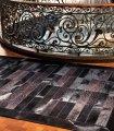 Alfombra patchwork de piel Luxer