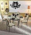 Mesa redonda y sillas de forja Otavia