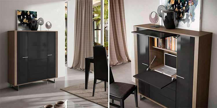 Aparador alto de diseño moderno Raniero   Ámbar Muebles