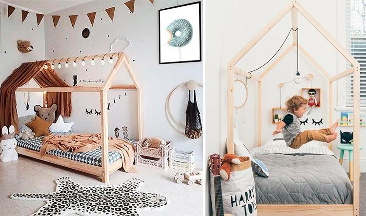 Cama casita para dormitorios infantiles | Inspiración Pinterest
