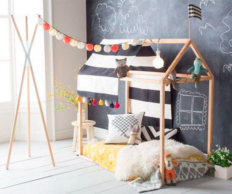 Cama casita estilo Montessori | Inspiración Pinterest