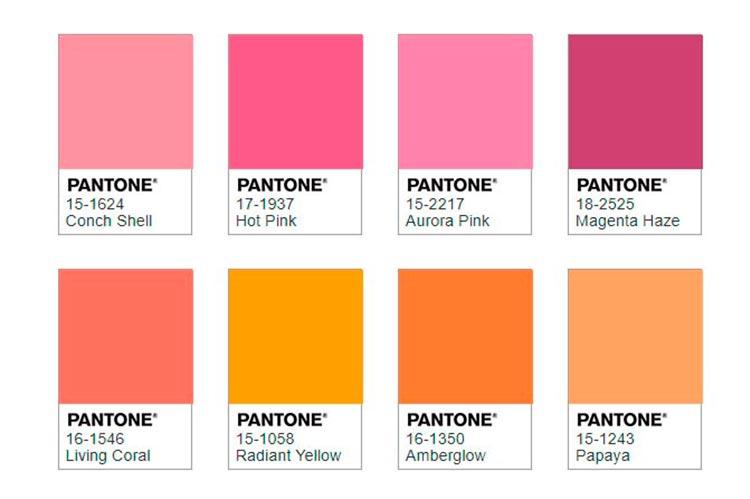 Color del año | Living Coral | Ampliación de paleta