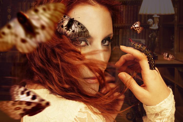 Cuadro de metacrilato Mujer mariposa - Ámbar Muebles