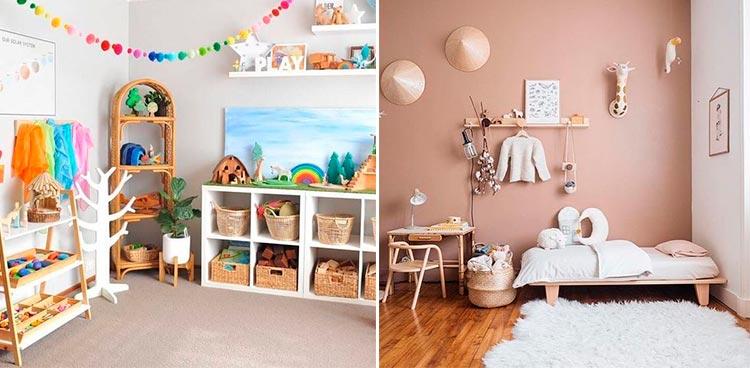 Dormitorios infantiles Montessori | Inspiración Pinterest
