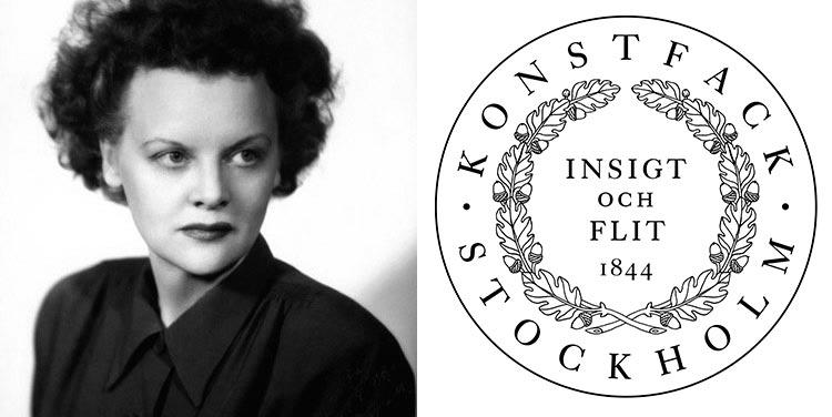 Greta Grossman en la Escuela Konstfack de Estocolmo