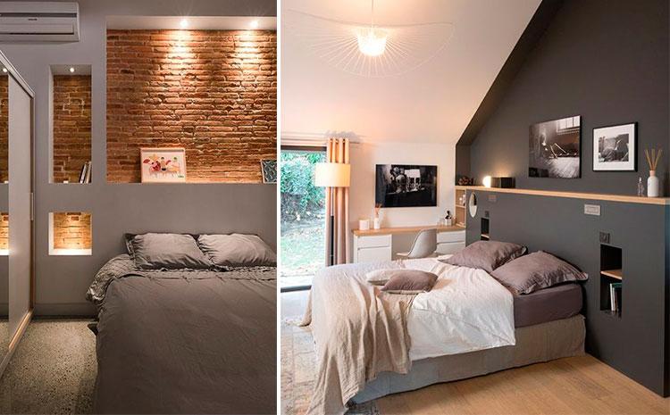 Hornacinas en dormitorios | Vía Pinterest