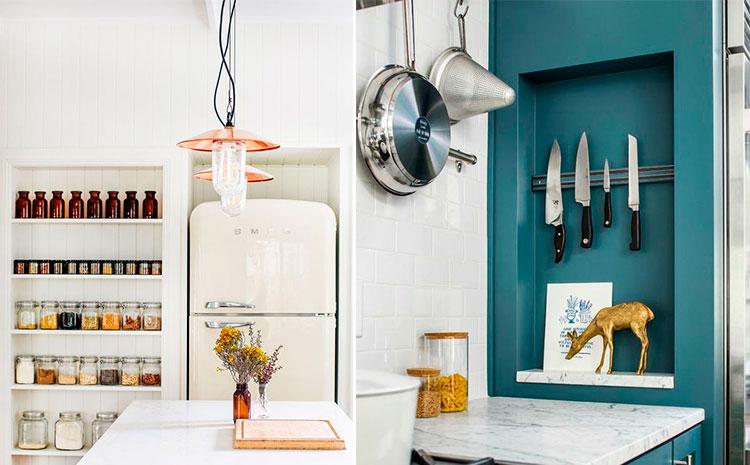 Hornacinas en cocinas | Vía Pinterest