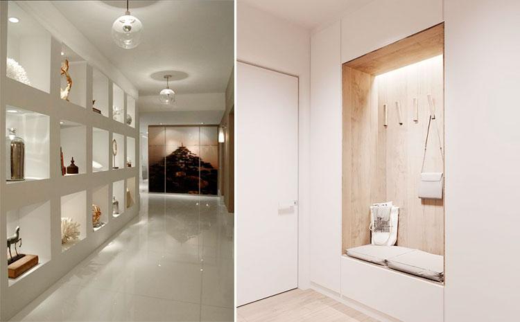 Hornacinas en pasillos y recibidores | Vía Pinterest