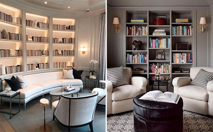 Hornacinas en salones y bibliotecas | Vía Pinterest
