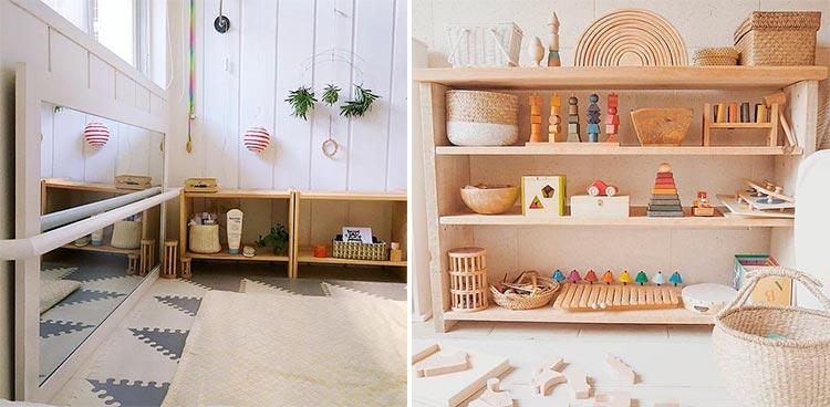 Juegos y accesorios de estilo Montessori | Inspiración Pinterest
