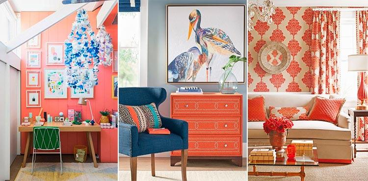 Color del año | Living Coral | Decoración de paredes