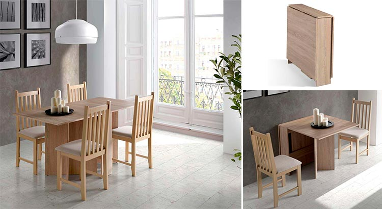 Mesa de cocina con alas Campos | Ámbar Muebles