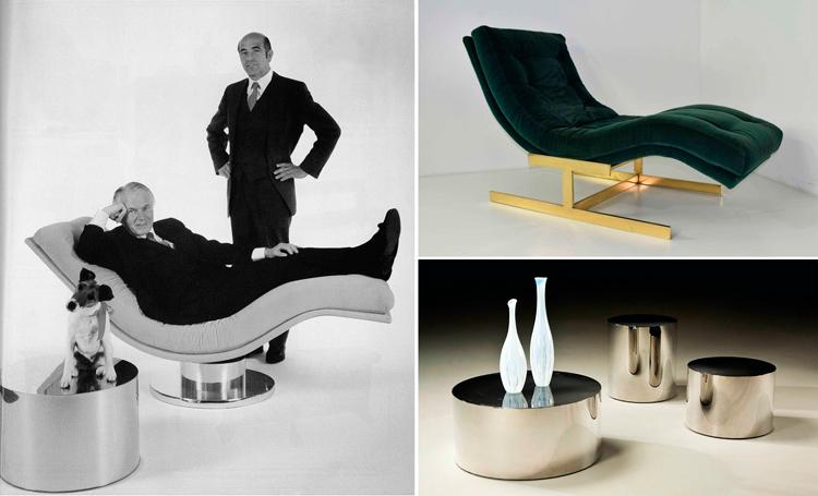 Muebles de diseño de Milo Baughman - Chaise Longue y mesas - Inspiración vía Pinterest
