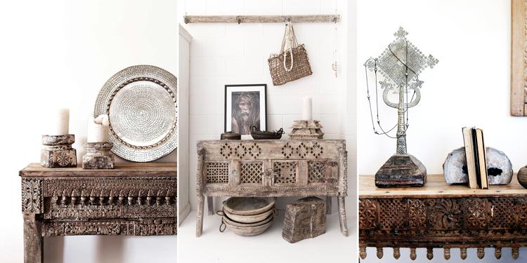 Muebles de madera tallada de estética hindú - Inspiración vía Pinterest