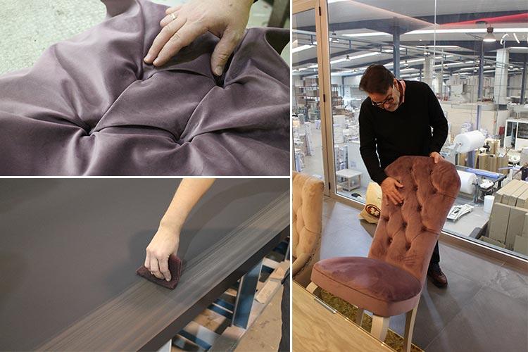 Paco Escrivá durante su visita en las instalaciones de Franco Furniture