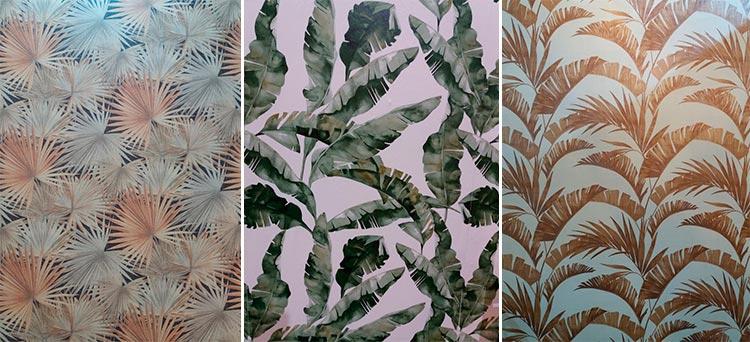 Papel pintado con palmeras en Intergift 2019 | Ámbar Muebles