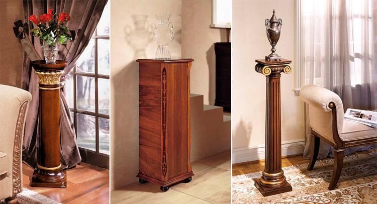 Pedestales clásicos de Ámbar Muebles: 1. Emeda | 2. Amadeus | 3. Oneida