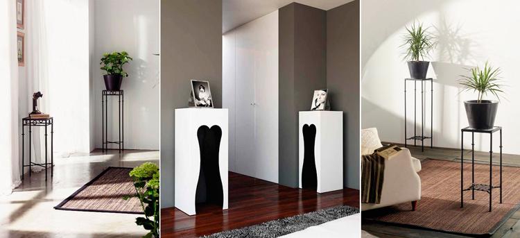 Pedestales de Ámbar Muebles: 1. Selima | 2. Barcelona | 3. Tadeo