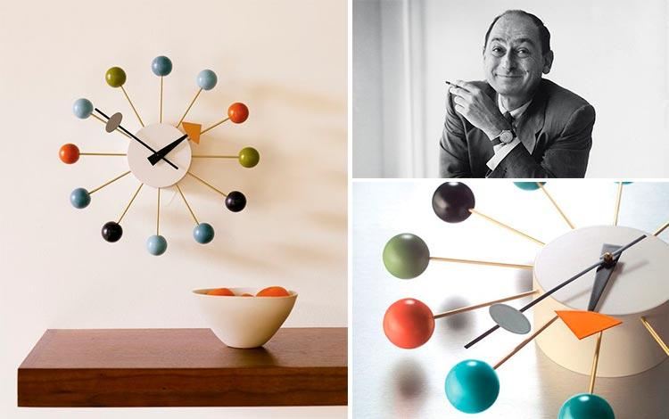 Reloj de pared Ball Clock de George Nelson   Inspiración Pinterest