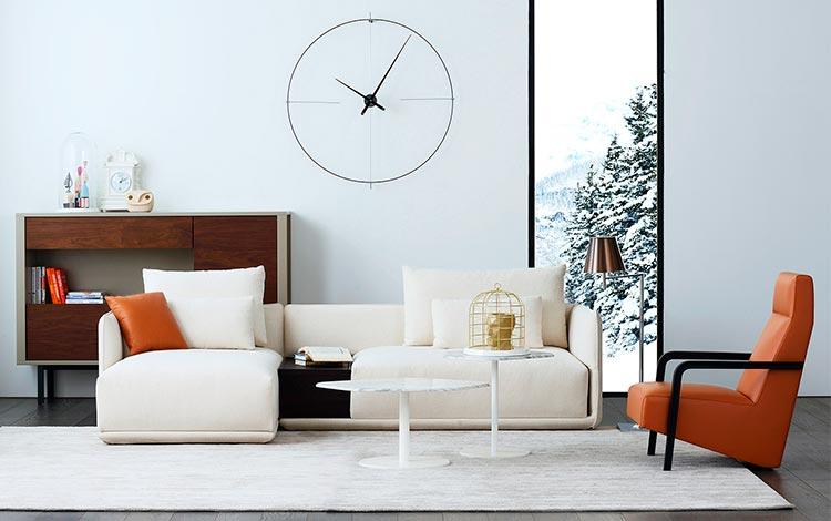 Reloj de pared moderno Bilbao   Nomon en Ámbar Muebles