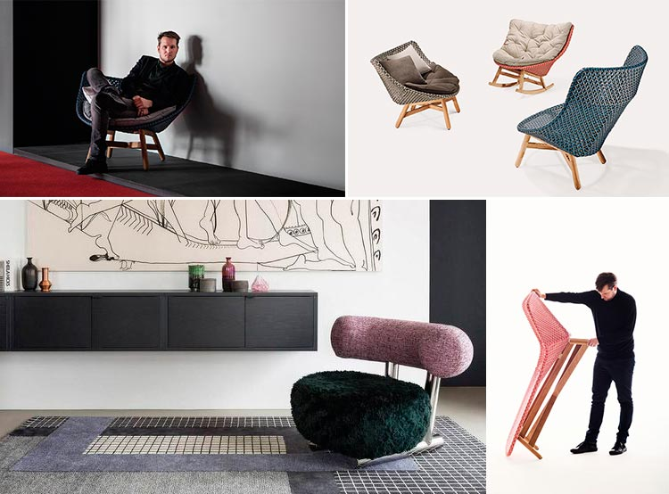 Sebastian Herkner | Muebles de jardin Mbrace para Dedon | Fuente: Pinteret