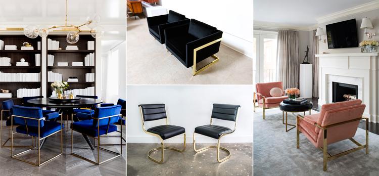 Sillas y sillones diseñadas por Milo Baughman - Inspiración vía Pinterest
