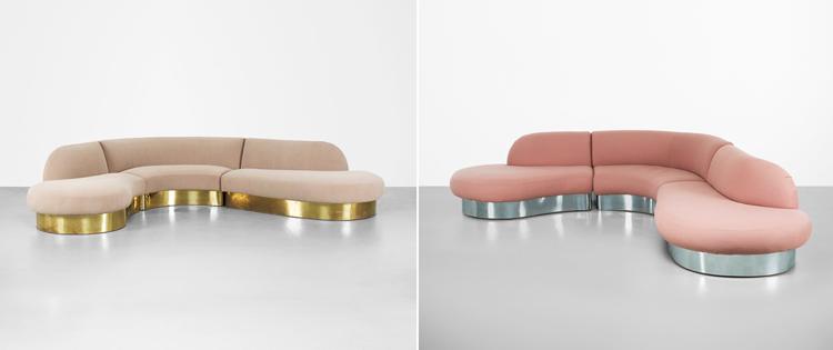 Sofás diseñados por Milo Baughman - Inspiración vía Pinterest