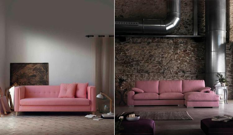 1. Sofá vintage Saldaña | 2. Chaise longue de diseño Camila en Ámbar Muebles