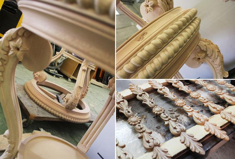 Tallas de madera en crudo - Visita a la fábrica de Mariner