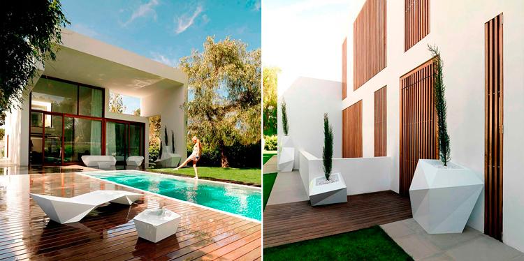 Casa en Rocafort, diseñada por Ramón Esteve + Muebles Colección Faz para Vondom