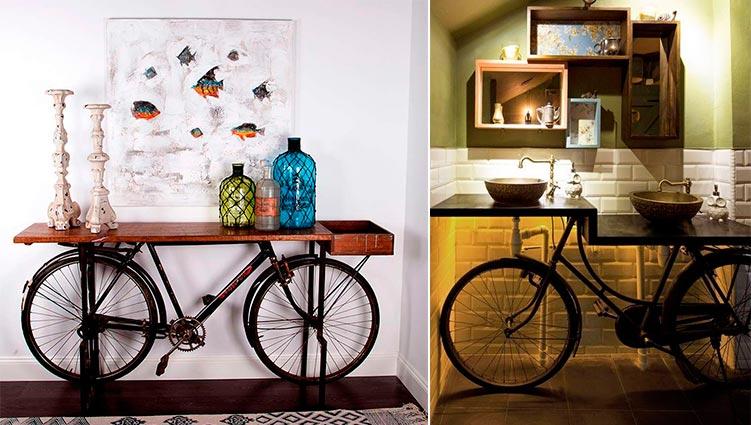 Consola bicicleta vintage Domenico - Ámbar Muebles