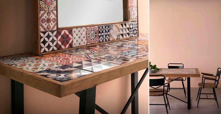 Muebles de la colección industrial Mozaika - Ámbar Muebles