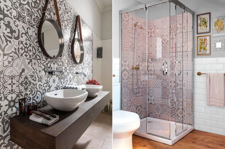 Ideas de decoración - Azulejos hidráulicos en mosaico para las paredes - Pinterest