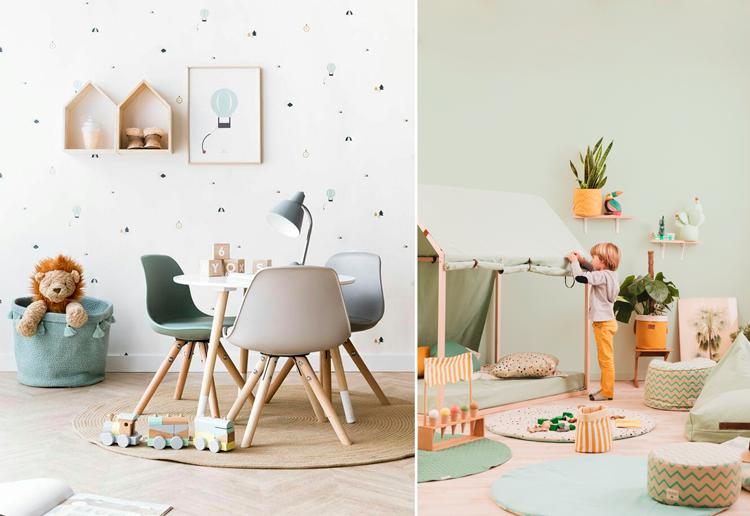 Ideas de decoración para zonas de juego infantiles - Inspiración vía Pinterest