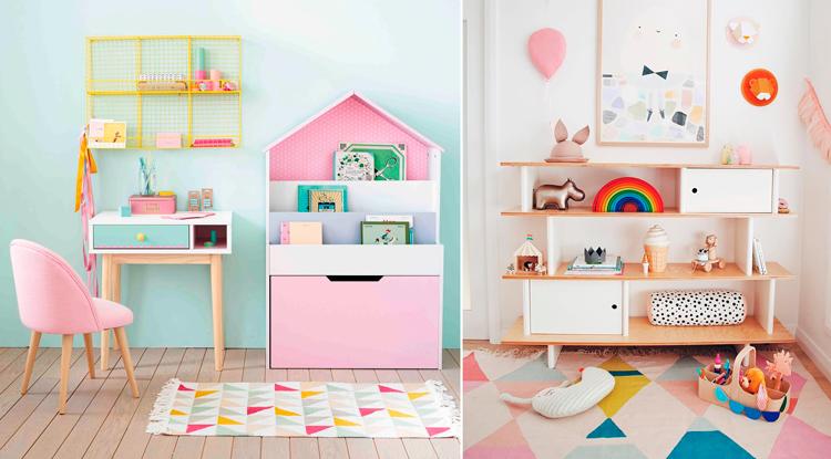 Estantes y muebles contenedores para zonas de juegos - Inspiración vía Pinterest