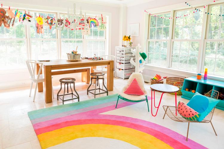 Varias zonas en un mismo ambiente - Zonas de juegos infantiles - Inspiración vía Pinterest