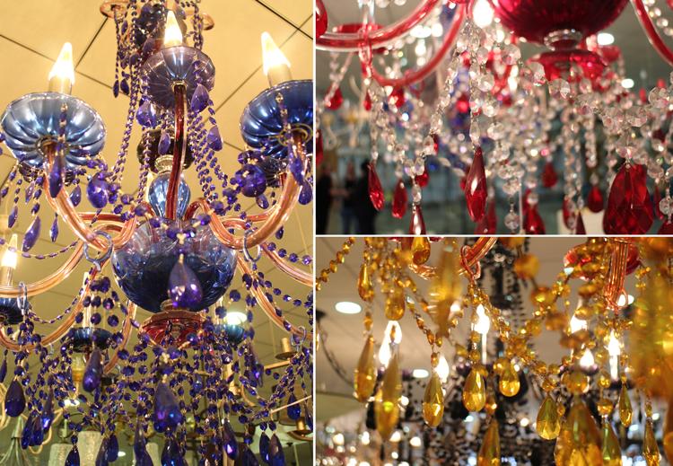 Lámparas de cristal de colores en Joalpa - Ámbar Muebles