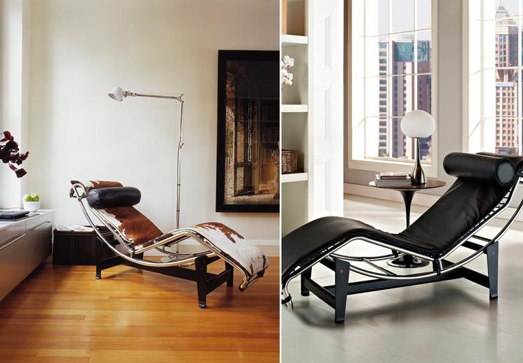 Chaise longue LC4 de Le Corbusier - Piel potro y negro - Sheraton en Ámbar Muebles