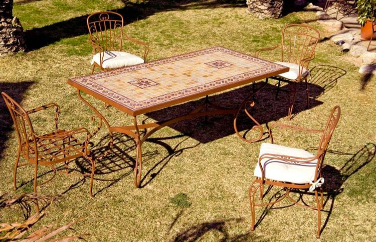 Mesa de jardín rectangular Caeli - Ámbar Muebles