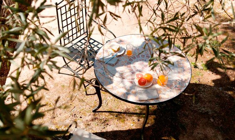 Mesa de jardín redonda Lírica - Ámbar Muebles