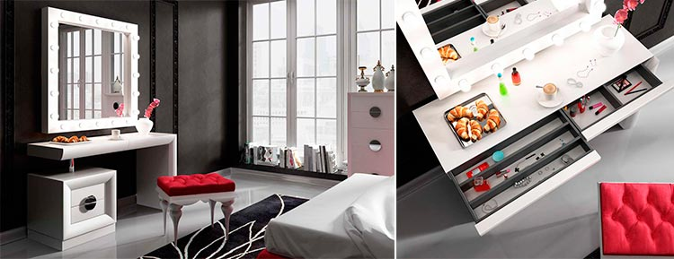 Mueble tocador moderno Bella T03 | Ámbar Muebles