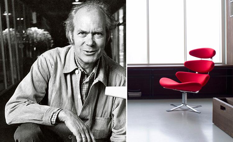 Poul M. Volther + Butaca Corona en rojo - Inspiración Pinterest
