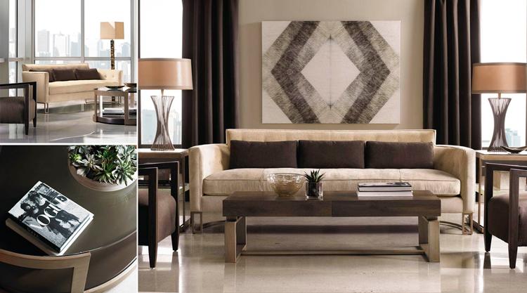 Sofá de diseño + Mesas de centro - Ámbar Muebles