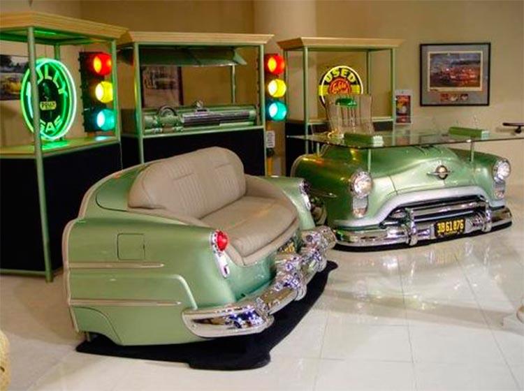Sofá vintage coche clásico americano - Inspiración Pinterest - Ámbar Muebles
