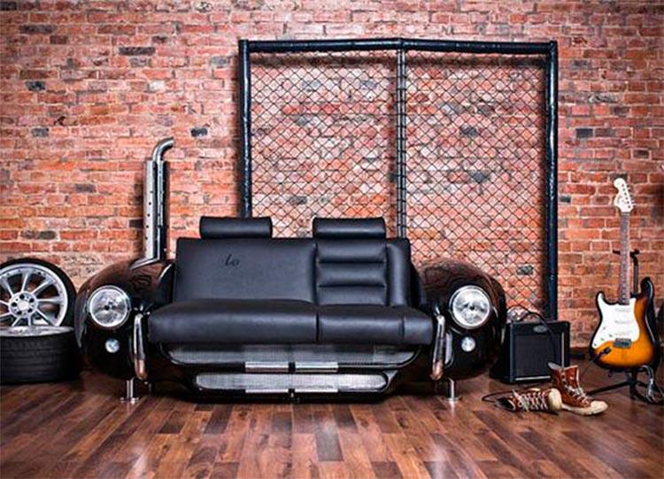 Sofá vintage coche clásico - Inspiración Pinterest - Ámbar Muebles