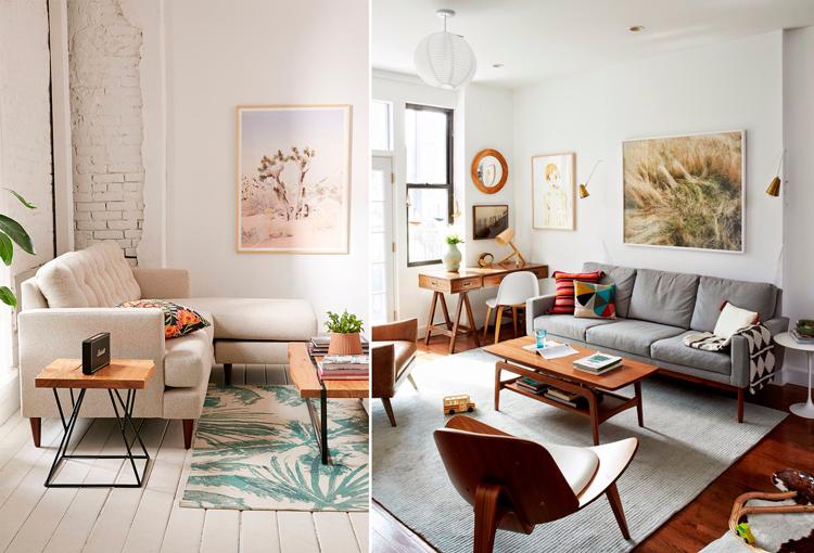 Ambientes con muebles de inspiración mid-century modern - Inspiración vía Pinterest